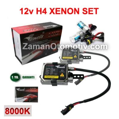 12V H4 XENON SET INWELLS (UZUN -KISA)