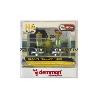 Demmon H4 2800k Xenon Yellow 12V
