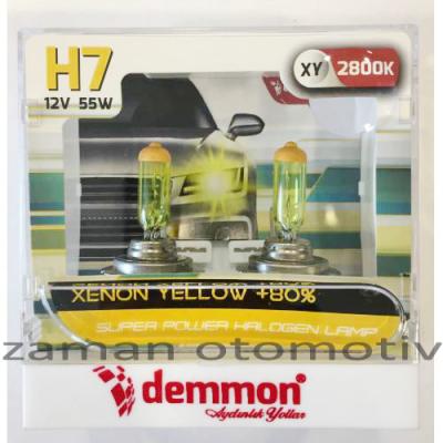 Demmon H7 2800k Xenon Yellow 12V