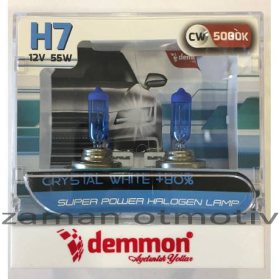 Demmon H7 5000K White Crystal 12V
