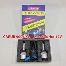 CARUB 9006 - HB4 Xenon Led Turbo 12V Fanlı C.O.B - Şimşek Etkili