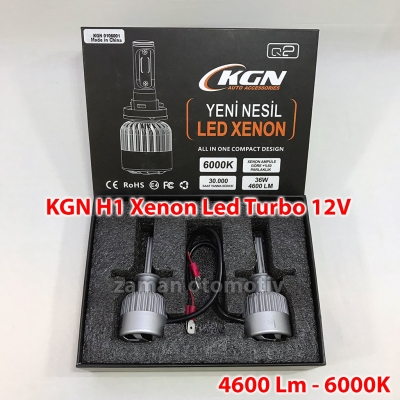 KGN H1 Xenon Led Turbo 12V Fanlı - Şimşek Etkili