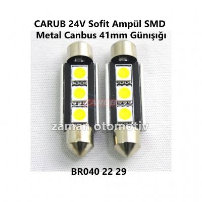 CARUB 24V Sofit Ampül SMD Metal Canbus 41mm Günışığı