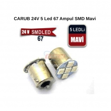 CARUB 24V 5 Led 67 Ampul SMD Mavi