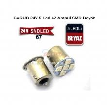 CARUB 24V 5 Led 67 Ampul SMD Beyaz