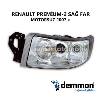 Renault Premium - 2 SAĞ FAR - Motorsuz - 2007 Sonrası