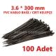 3.6 X 300 PVC KABLO BAĞI SİYAH