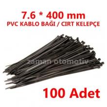 7.6 X 400 mm PVC KABLO BAĞI SİYAH