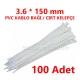 3.6 X 150 PVC KABLO BAĞI BEYAZ