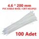 4.6 X 200 PVC KABLO BAĞI BEYAZ