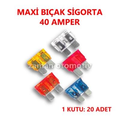 MAXI BIÇAK SİGORTA 40 AMP.