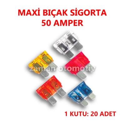 MAXI BIÇAK SİGORTA 50 AMP.