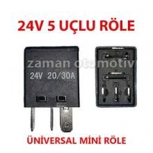 24V 5 Uçlu Çift Platinli Mini Röle - 0035420219