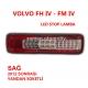 VOLVO FH IV - FM IV LED STOP LAMBASI SAĞ (YANDAN SOKETLİ) 2012 SONRASI