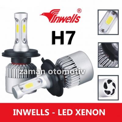 INWELLS H7 Led Xenon - 6500K Fanlı - Şimşek Etkili