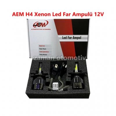 AEM H4 Xenon Led Far Ampulü 12V 6500K Fanlı