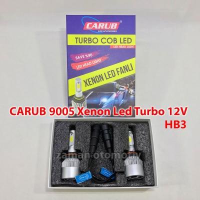 CARUB 9005 - HB3 Xenon Led Turbo 12V Fanlı C.O.B - Şimşek Etkili