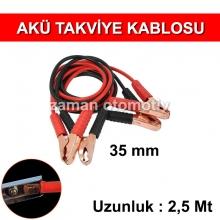 Akü Takviye Kablosu 2,5 Mt - 35 mm - Çantalı